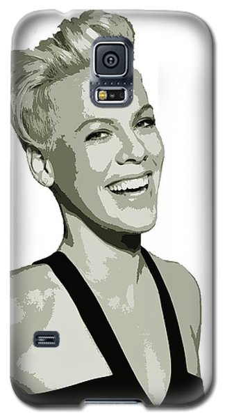 Pink Cutout Art Galaxy S5 Case