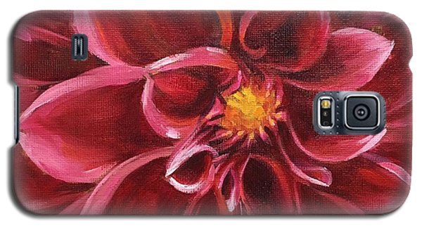 Galaxy S5 Case featuring the painting Pink Dahlia by Pam Talley