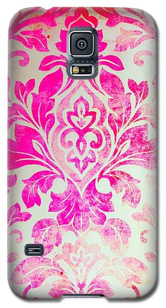 Pink Damask Pattern Galaxy S5 Case