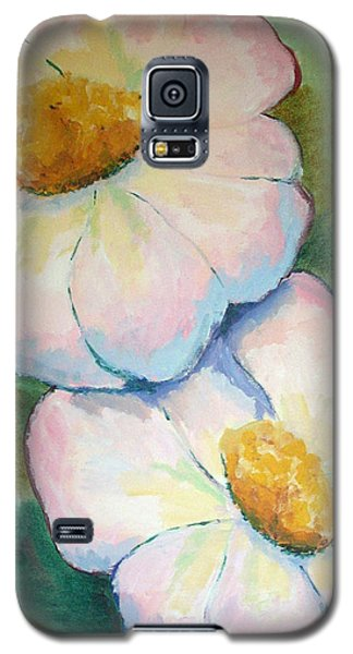 Pink Disc Flowers Galaxy S5 Case