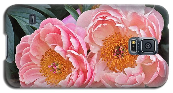 Pink Duo Peony Galaxy S5 Case
