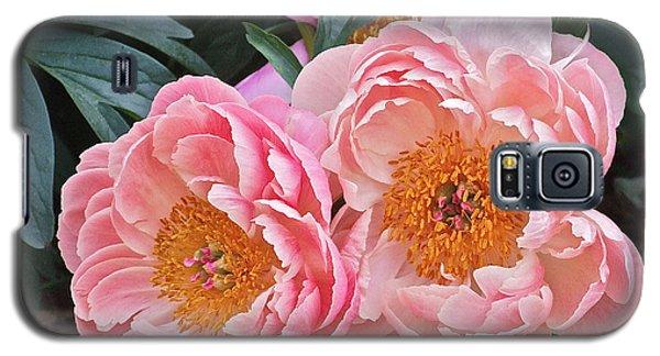 Pink Duo Peony Galaxy S5 Case