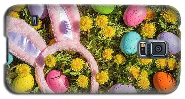 Galaxy S5 Case featuring the photograph Pink Easter Bunny Ears by Teri Virbickis