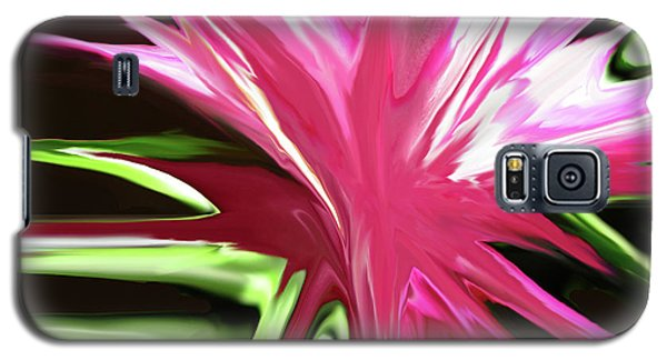 Galaxy S5 Case featuring the digital art Pink Explosion by Mary Bedy