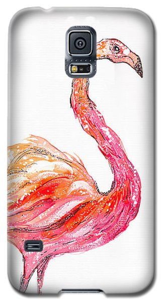Pink Flamingo Bird Galaxy S5 Case