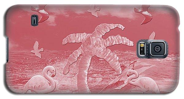 Pink Flamingo's Palms Galaxy S5 Case