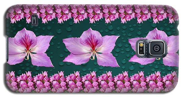 Pink Flower Arrangement Galaxy S5 Case by Gary Crockett