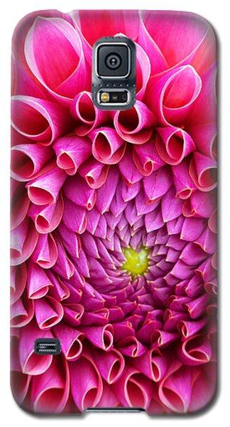 Pink Flower Close Up Galaxy S5 Case