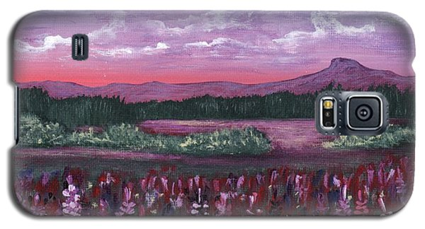 Galaxy S5 Case featuring the painting Pink Flower Field by Anastasiya Malakhova