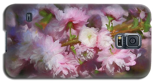 Galaxy S5 Case featuring the photograph Pink Flowering Almond by Donna Kennedy