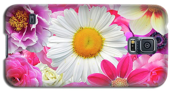 Pink Flowers  Galaxy S5 Case by Gloria Sanchez
