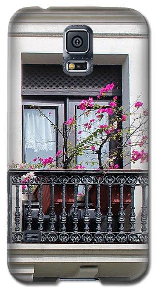 Pink Flowers On Balcony Galaxy S5 Case