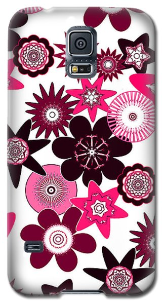Pink Funky Flowers Galaxy S5 Case by Methune Hively