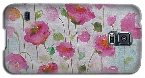 Pink Garden 1 Galaxy S5 Case