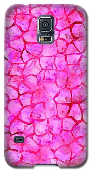 Pink Giraffe Print Galaxy S5 Case