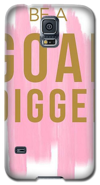 Pink Goal Digger Galaxy S5 Case by Elizabeth Taylor