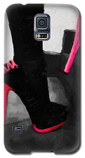 Galaxy S5 Case featuring the digital art Pink Heels by Serge Averbukh