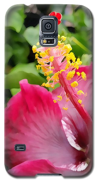 Pink Hibiscus  Galaxy S5 Case