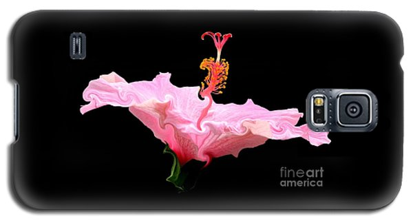 Pink Hibiscus With Curlicue Effect Galaxy S5 Case