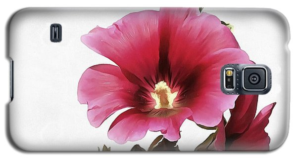 Pink Hollyhock Galaxy S5 Case by Tracey Harrington-Simpson