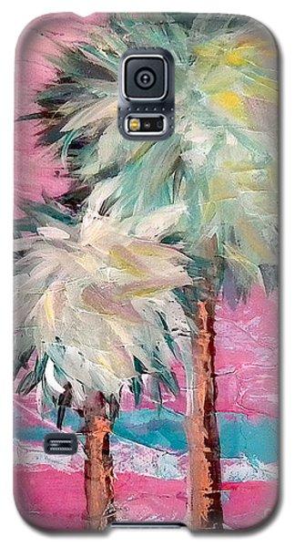 Pink Horizon Palms Galaxy S5 Case
