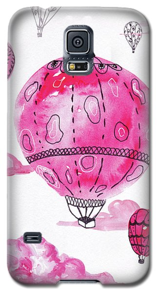 Pink Hot Air Baloons Galaxy S5 Case