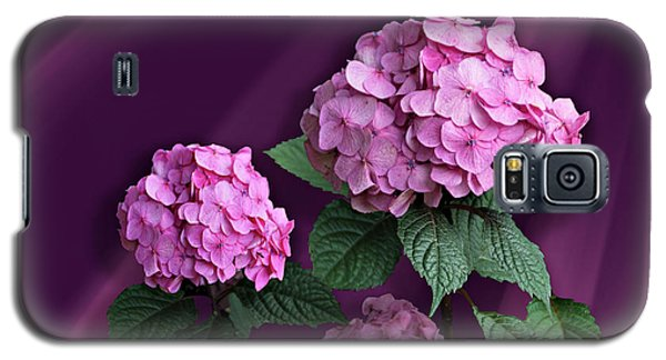 Pink Hydrangea Galaxy S5 Case by Judy Johnson