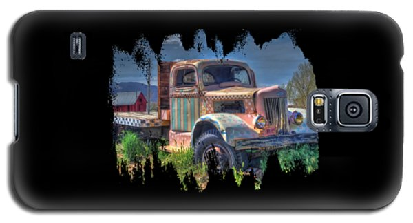 Classic Flatbed Truck In Pink Galaxy S5 Case