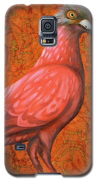 Galaxy S5 Case featuring the painting Pink Lady by Leah Saulnier The Painting Maniac