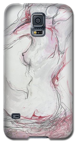 Galaxy S5 Case featuring the drawing Pink Lady by Marat Essex