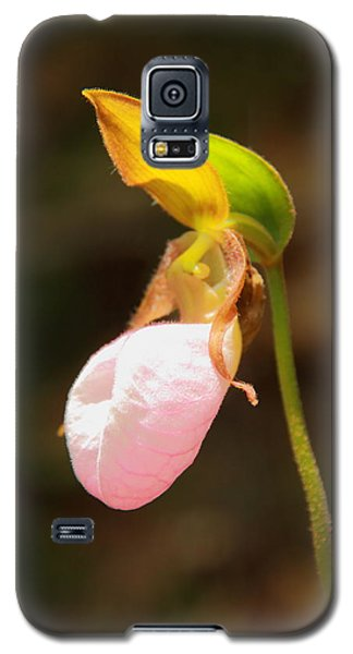 Galaxy S5 Case featuring the photograph Pink Lady Slipper by Roupen  Baker