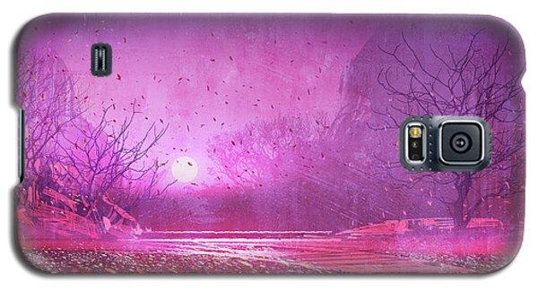 Pink Landscape Galaxy S5 Case