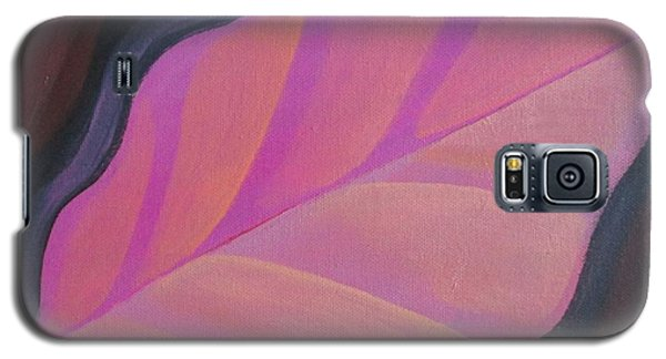 Pink Leaf Galaxy S5 Case