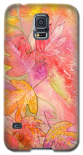 Pink Leaves Galaxy S5 Case