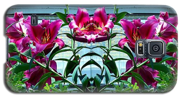 Pink Lilies Fusion Galaxy S5 Case by Will Borden