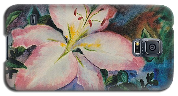Galaxy S5 Case featuring the painting Pink Lily by Brenda Thour