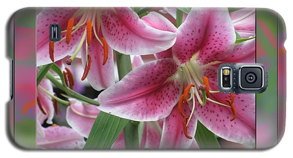 Pink Lily Design Galaxy S5 Case