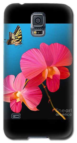 Pink Lux Butterfly Galaxy S5 Case