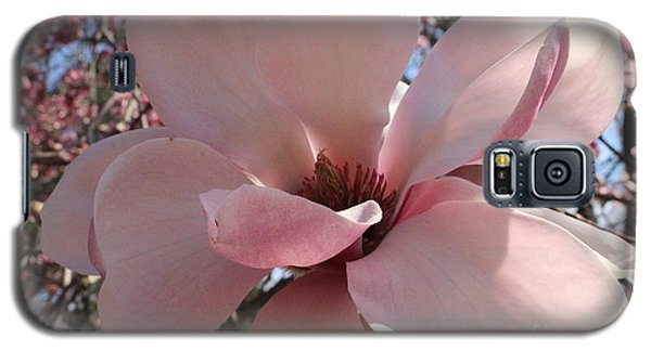 Pink Magnolia In Full Bloom Galaxy S5 Case