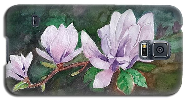 Pink Magnolia - Painting Galaxy S5 Case