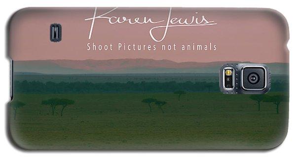 Galaxy S5 Case featuring the photograph Pink Mara Dawn by Karen Lewis