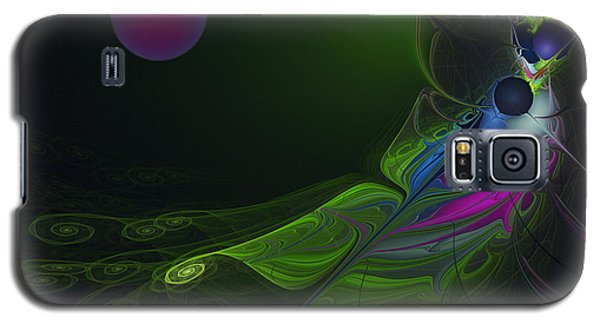 Galaxy S5 Case featuring the digital art Pink Moon by Karin Kuhlmann
