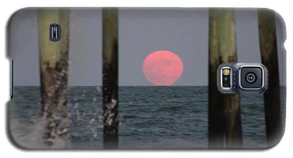 Pink Moon Rising Galaxy S5 Case by Robert Banach