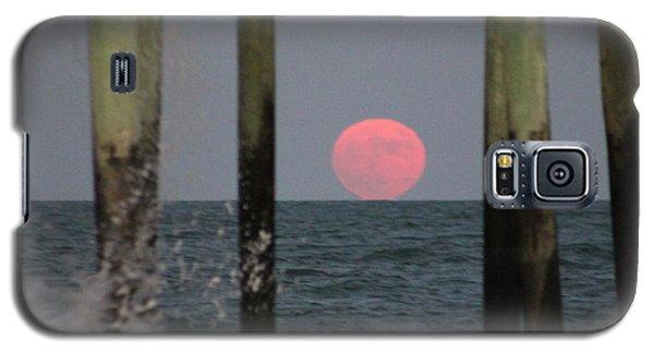 Pink Moon Rising Galaxy S5 Case