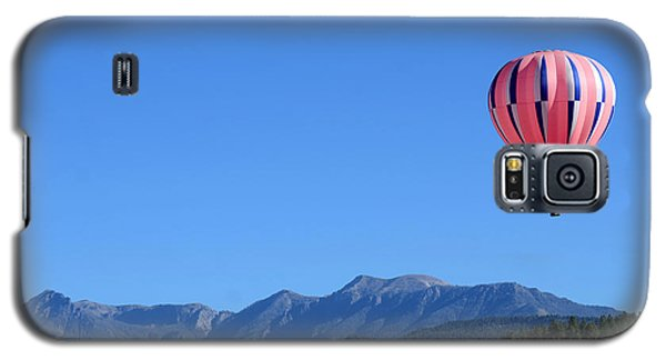 Galaxy S5 Case featuring the photograph Pink On Blue by Kevin Munro