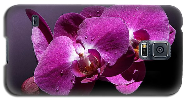 Pink Orchid Flowers Galaxy S5 Case