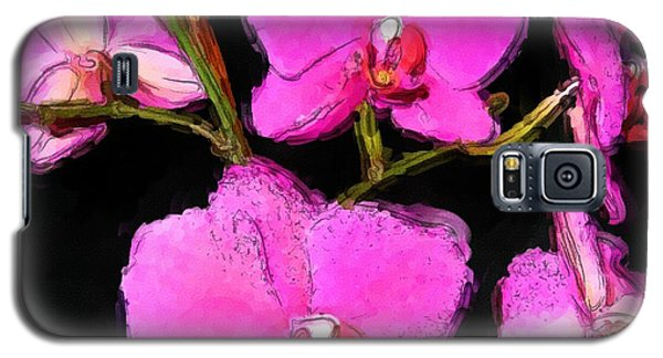 Pink Orchids Galaxy S5 Case by Dennis Lundell