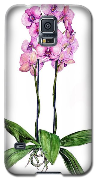 Galaxy S5 Case featuring the painting Pink Orchids by Heidi Kriel