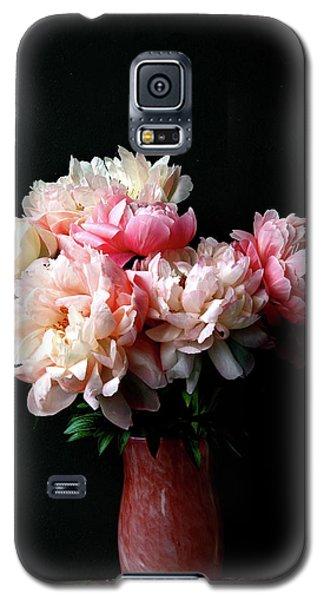 Pink Peonies In Pink Vase Galaxy S5 Case