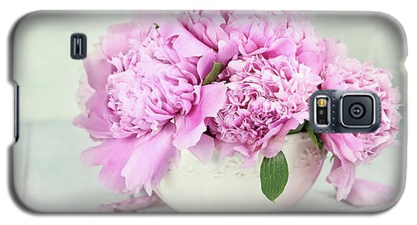 Pink Peonies Galaxy S5 Case